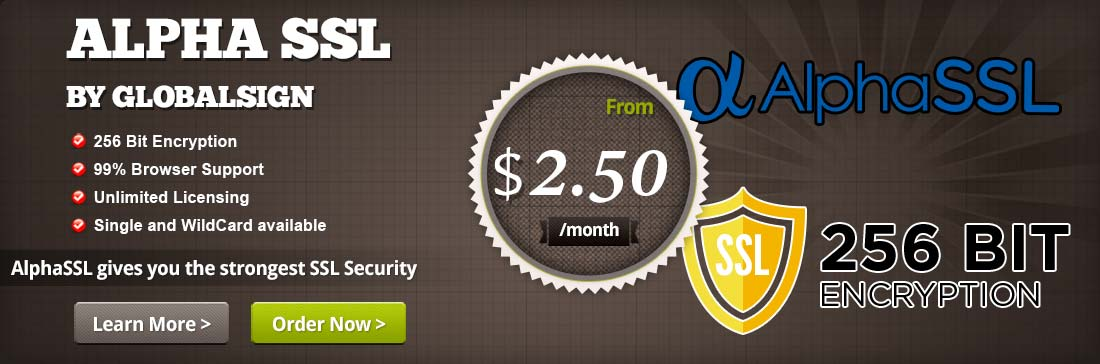 We Provide AlphaSSL provided by GlobablSign